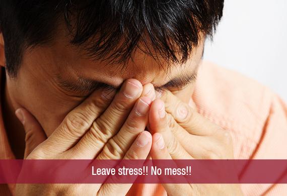 Leave stress!! No mess!!