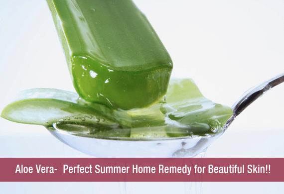 Aloe Vera- Perfect Summer Home Remedy for Beautiful Skin!!