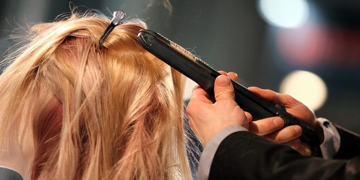 Heat style hair