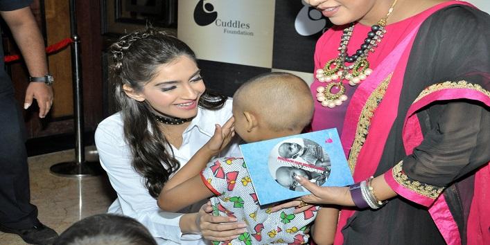 Sonam Kapoor At 'Cuddles Foundation'