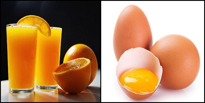 Orange Juice & Egg Yolk Treatment for Glowing and Moisturized skin