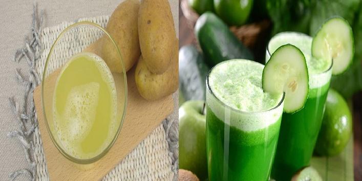 Potato and Cucumber juice