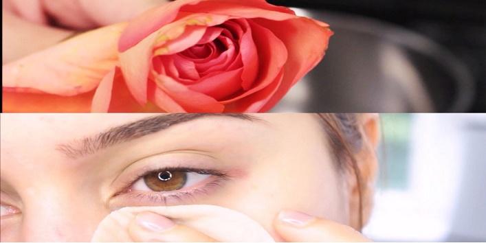 eye benefits of rose water