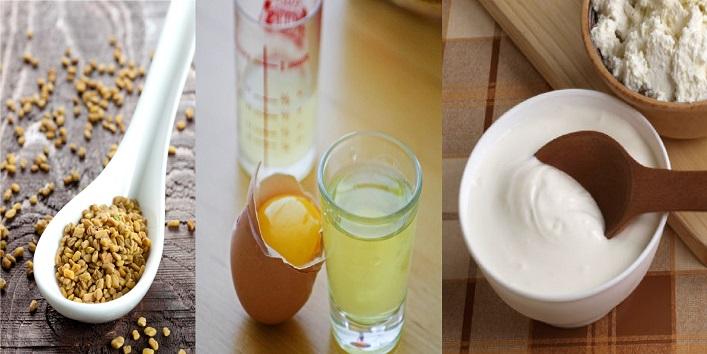 Fenugreek, egg white and yogurt