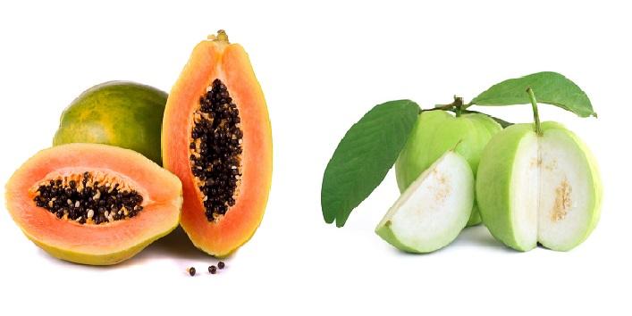 Guava and papaya