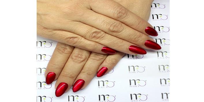 Metallic red chrome