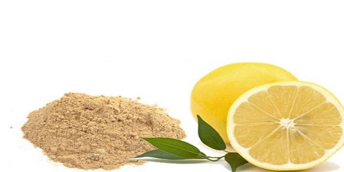 Lemon Juice and Sandalwood Powder