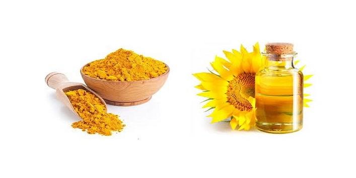 Vitamin E Oil and Turmeric Powder