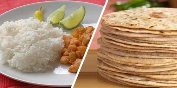 rice or chapati