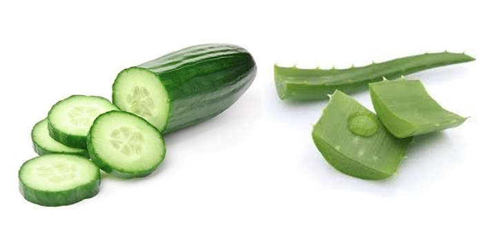 Aloe vera and cucumber pack for refreshing skin