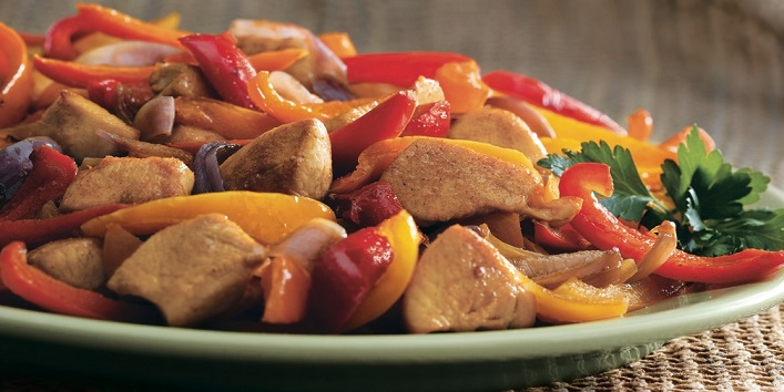 Red pepper and chicken