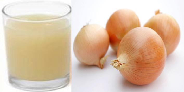 Onion-juice-to-treat-odor-and-stickiness