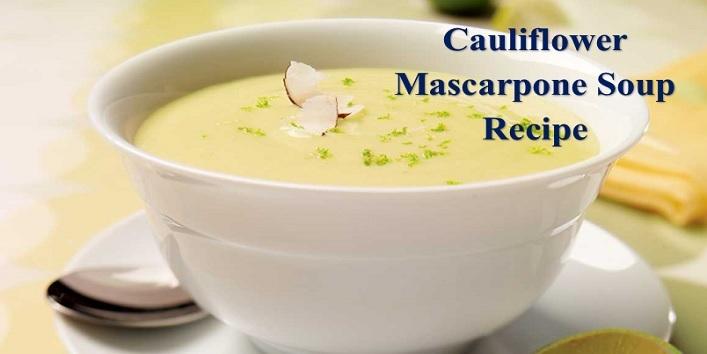 cauliflower and mascarpone soup