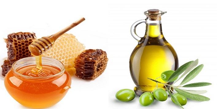 Honey and olive oil mask for radiant skin