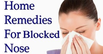 Home Remedies for Blocked Nose