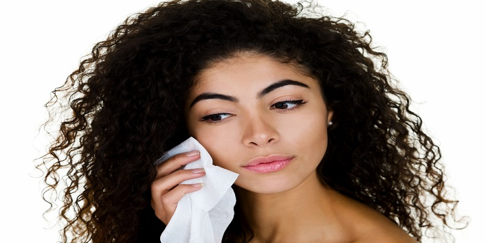 Use skin cleansing wipes