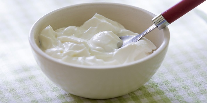 Yogurt for smooth hair