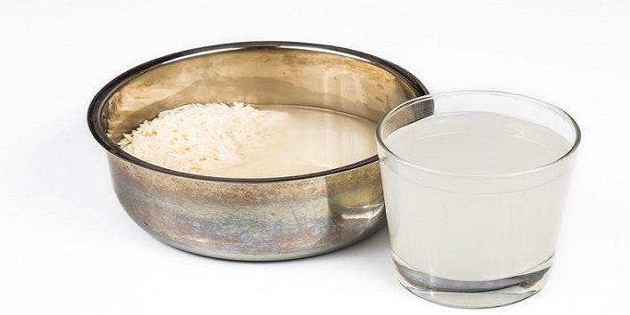 Rice water and glycerin cleanser for skin rejuvenation