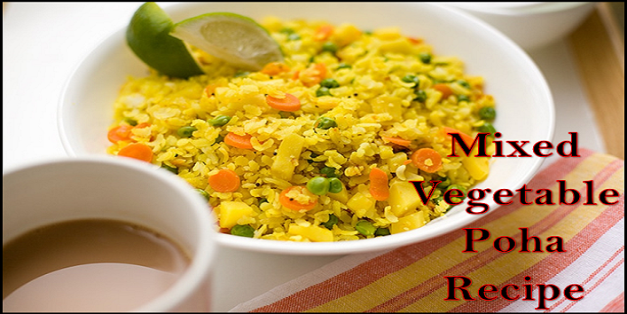 mixed vegetable poha recipe