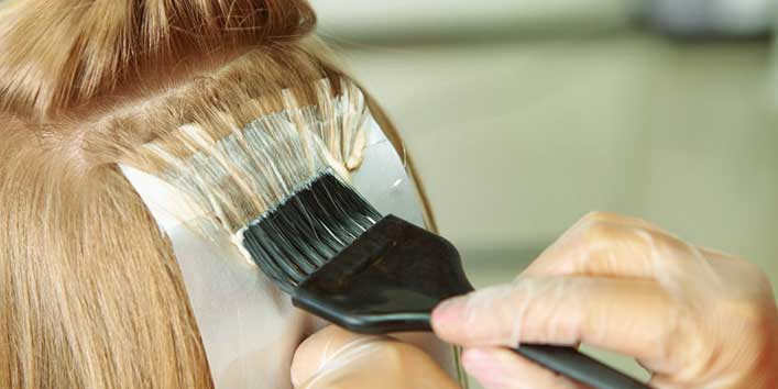Avoid styling products and hair dye