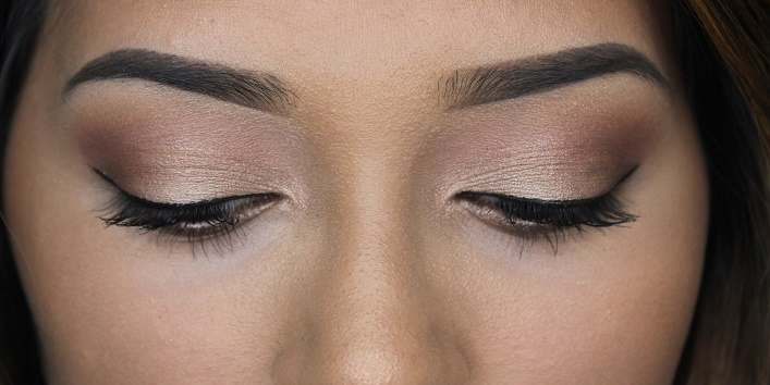 Use soft colored eyeshadows
