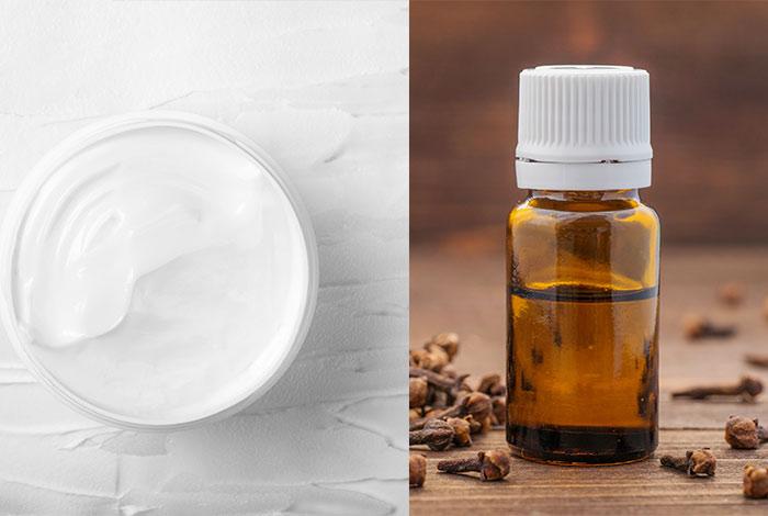 Moisturizer-and-clove-oil