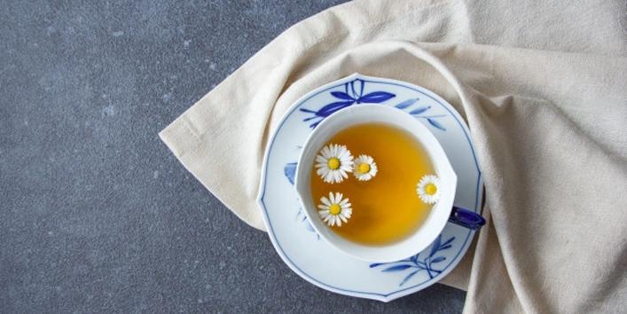 Drinking-chamomile-tea